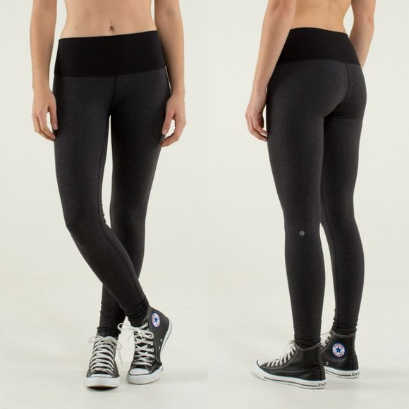 Lululemon Black Wee Stripe High Rise Wunder Unders